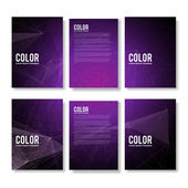Set of Purple Modern Abstract Flyers — Stock Vector
