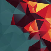Abstract Colorful Lowpoly Vector Background — Vetor de Stock