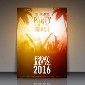 Summer Beach Party Flyer — Stock Vector