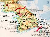 Kaart van zuid-korea — Stockfoto