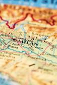 Milan on map — Stock Photo