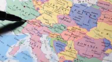Kaart van de wereld — Stockvideo
