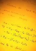 Mathematical text — Stock Photo