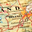 Belfast On Map — Fotografia Stock  #56243851