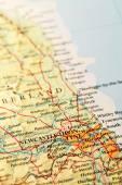 Newcastle upon Tyne on map — Stock Photo