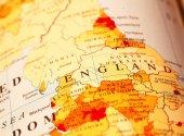 England on map — Stock Photo