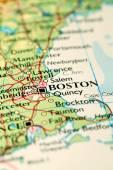 Boston City On Map — Stock Photo