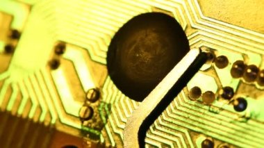 Electronic circuit board — Stock Video
