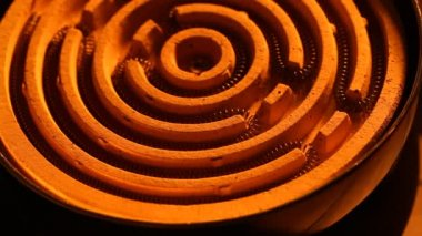 Heating coil element — Stock Video