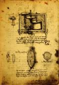 Stary rysunek inżynierii — Zdjęcie stockowe