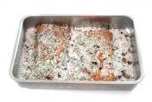 Brine salt and fish — Stock Photo