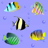 Seamless sample with sea fish — Stock Vector