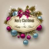 Christmas gift card — Vettoriale Stock