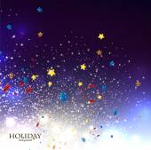 Christmas background with stars confetti — Stock Vector