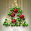Christmas background with balls — Stock Vector #56900179