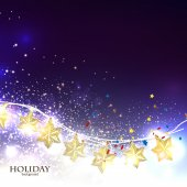 Christmas  background with luminous garland — Stock Vector