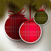 Christmas background with colorful textured balls — Stock vektor