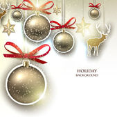 Christmas background with decorations — Stock Vector