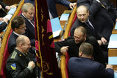 The Ukrainian Parliament resumes work with new structure 27 November 2014 Kiev, Ukraine — Stock Photo