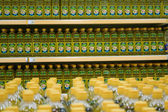 Bottle with cooking oil in a supermarket — Foto Stock