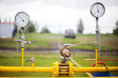 Wellhead Pressure Gauge — Stock Photo