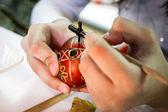 Украинская пасхальные яйца - Писанка — Стоковое фото