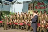 Concert on the occasion of Victory Day in the Great Patriotic Wa — Stock Photo