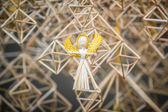 Decoration angels from straw — Stock Photo