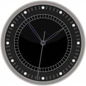 Wall clock isolated — Stock Vector