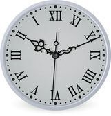 Old clock isolated — Stock Vector