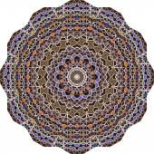 Triangular ornamental round lace — Stock Vector