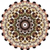 Triangular ornamental round lace — Vettoriale Stock