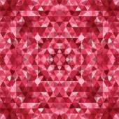 Triangular red mosaic background — Stock Vector