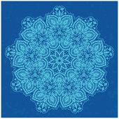 Ornamental blue lace pattern — Vector de stock