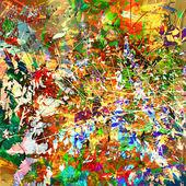 Květinové abstraktní grunge pozadí — Stock vektor