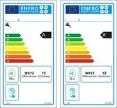 New energy rating graph label — Stock Vector