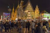 Christmas market in Wroclaw, Poland — Stock Photo