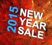 New Year Sale 2015 — Stock Photo