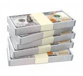 Dollars money isolated on white background. — Stock Photo