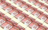 Canadian dollar bills stacks background. — Stock Photo
