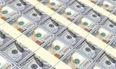 American dollar bills stacks background. — Stock Photo