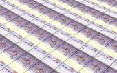 Malaysian ringgit stacks background. — Stock Photo