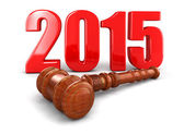 Wooden Mallet and 2015 — Stock Photo