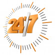 24-7 Sign (clipping path included) — Stock Photo #61849829