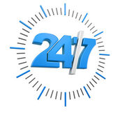 24-7 Sign (clipping path included) — Stockfoto