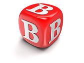 Dices with letter B (clipping path included) — Stock Photo