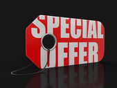 Label with special offer (clipping path included) — Stock Photo