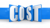 Label with Cost (clipping path included) — Stock Photo