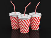 Disposable cup (clipping path included) — Stock Photo