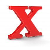 Bokstav X (urklippsbana ingår) — Stockfoto